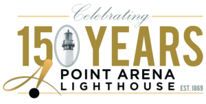 Point Arena Lighthouse celebrating 150 years graphic